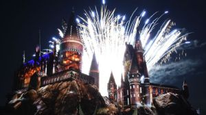 Mandatory Credit: Photo by Buckner/Variety/REX/Shutterstock (5623862bh) Fireworks The Wizarding World of Harry Potter opening at Universal Studios, Los Angeles, America - 05 Apr 2016