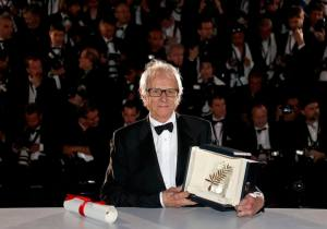 "Director Ken Loach, Palme d'Or award winner for his film ""I, Daniel Blake"", poses during a photocall after the closing ceremony of the 69th Cannes Film Festival in Cannes, France, May 22, 2016.       REUTERS/Regis Duvignau   TPX IMAGES OF THE DAY"
